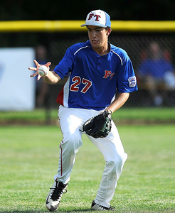 8/9/2016 Mike Orazzi | Staff New Jersey's John Abrahamsen (27) during the Eastern Regional Little League Tournament at Breen Field in Bristol Tuesday.