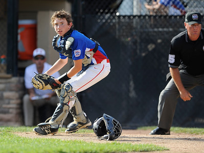 8/9/2016 Mike Orazzi | Staff New Jersey's Patrick Burns (16) during the Eastern Regional Little League Tournament at Breen Field in Bristol Tuesday.