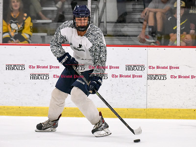 081916  Wesley Bunnell  | Staff  Kevin Dazkevich of Saint Anselm College skates during Pete Asadourian's 12th annual Pro Hockey Camp Scrimmage which took place on Thursday evening at Newington Arena.