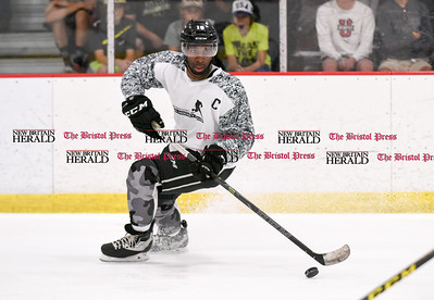 081916  Wesley Bunnell  | Staff  Jordan Samuels-Thomas of the Ontario Reign skating during Pete Asadourian's 12th annual Pro Hockey Camp Scrimmage which took place on Thursday evening at Newington Arena.