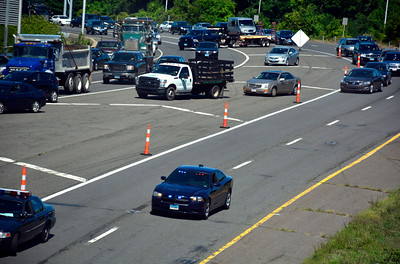 8/23/2016 Mike Orazzi | Staff Route 72 East in Plainville closed after a one vehicle crash near Exit 4 on Tuesday morning.