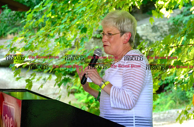 8/26/2016 Mike Orazzi | Staff Lt Gov. Nancy Wyman during the 135th Crocodile Club Reunion Dinner held at Lake Compounce Friday afternoon.
