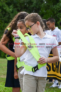 082916  Wesley Bunnell | Staff  Smith School held a ceremony on Monday where 5th grade students received their AAA Safety Patrol sashes in the attendance of local school officials , police and a AAA representative.