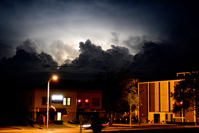 8/13/2016 Mike Orazzi | Staff Lightning in downtown Bristol Saturday night.