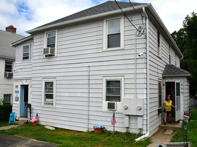 8/17/2016 Mike Orazzi | Staff Vietnam veteran Robert Gentle and his wife Doreen's home on Cyprus Street is being renovated by a volunteer group.