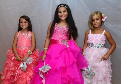 8/20/2016 Mike Orazzi | Staff Natalia Peluso, Valerie Perez, Julianna Benitez during the 2016 Little Miss Puerto Rico of New Britain Pageant held at Puerto Rican Society on High Street Saturday.