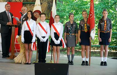 8/27/2016 Mike Orazzi   Staff Members of the Polish Language School during Saturday's Dozynki Festival held at Falcon Field in New Britain.