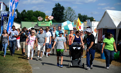 8/27/2016 Mike Orazzi   Staff Part of the crowd during the 68th annual Terryville Lions Country Fair Saturday afternoon.