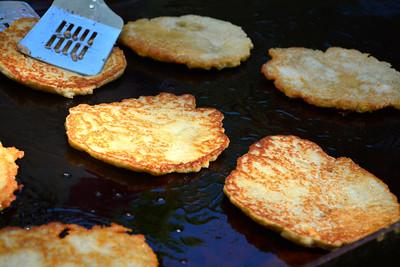 8/27/2016 Mike Orazzi   Staff Potato pancakes during Saturday's Dozynki Festival held at Falcon Field in New Britain.