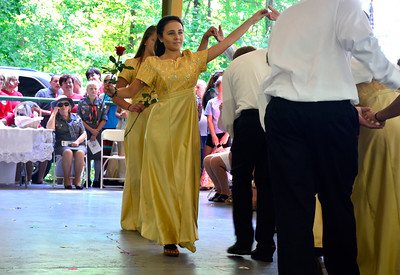 8/27/2016 Mike Orazzi   Staff Polish Language School dancers perform the Polonez during the 36th Annual Dozynki Festival at Falcon Field in New Britain on Saturday.