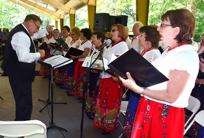 8/27/2016 Mike Orazzi   Staff Members of the Polonia Paderewski Choir during the 36th Annual Dozynki Festival at Falcon Field in New Britain on Saturday.