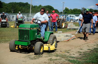 8/27/2016 Mike Orazzi   Staff Thomas Fayer Jr. participates in the garden tractor pull while at the 68th annual Terryville Lions Country Fair Saturday afternoon.