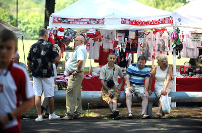 8/27/2016 Mike Orazzi   Staff Part of the crowd during the 36th Annual Dozynki Festival at Falcon Field in New Britain on Saturday.