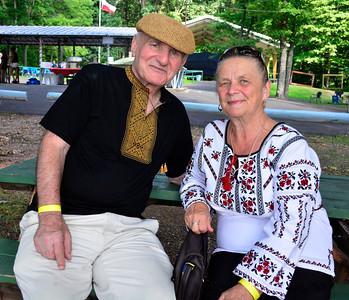 "8/6/2016 Mike Orazzi   Staff Megi Dzidzitsky and Yura Burkovskiy John Dytiuk and Maria Daras during the ""POL-UKI"" Polish/Ukrainian Festival held at Falcon Field in New Britain Saturday."