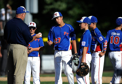 8/7/2016 Mike Orazzi | Staff New Jersey's John Abrahamsen (27) during the Eastern Regional Little League Tournament in Bristol Sunday.