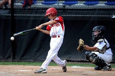 8/12/2016 Mike Orazzi | Staff Connecticut's Ben Gaffney (1) during the Eastern Regional Little League Tournament at Breen Field Friday.