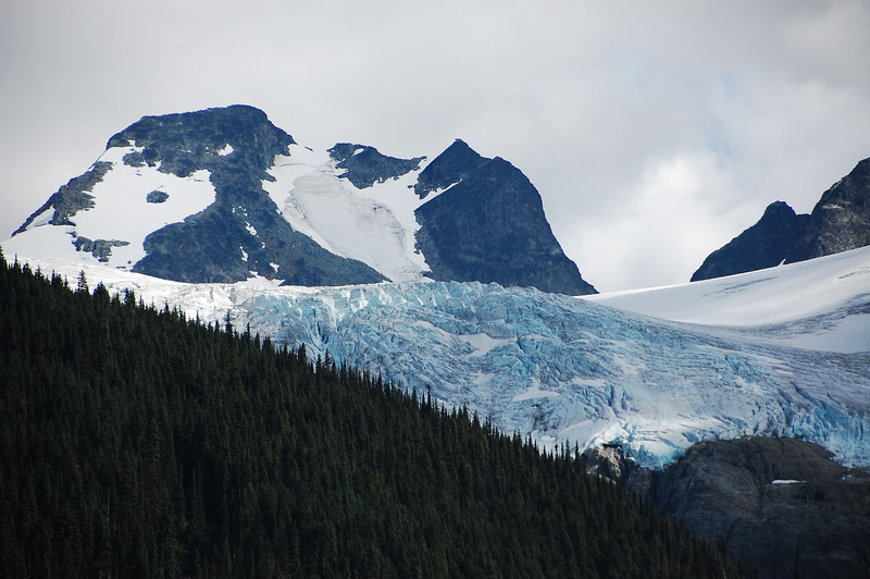 Day 2, Birch Bay Washington to Jesmond British Columbia, 317 miles<br /> <br /> Closer view of the Joffrey Lakes glacier.