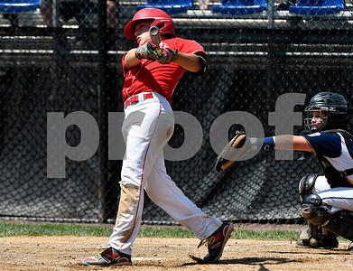 8/9/2017 Mike Orazzi   Staff New Jersey's Chris Cartmick (23) rips a home run during the Eastern Regional Little League Tournament in Bristol Wednesday afternoon.