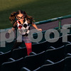 081617  Wesley Bunnell | Staff<br /> <br /> A young fan dressed as Harley Quinn runs after a foul ball during a super hero and princess night at the New Britain Bees baseball game versus the Southern Maryland Blue Crabs at New Britain Stadium.