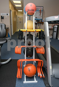 080717  Wesley Bunnell | Staff  Exercise equipment shown at the Southington Fyzical Therapy Center.