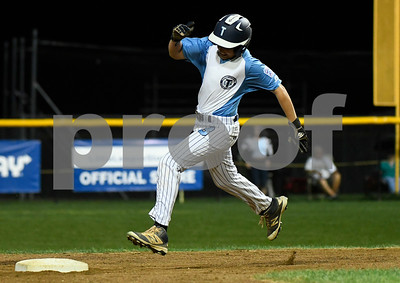 8/10/2017 Mike Orazzi | Staff Maryland's Josh Skowronski (3) rounds the bases against Delaware in the Eastern Regional Little League Tournament at Breen Field in Bristol Thursday night.