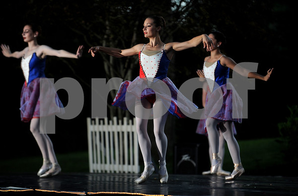8/17/2017 Mike Orazzi | Staff Members of the Albano Ballet perform in the garden during a benefit for the Petit Family Foundation in Plainville Thursday evening.