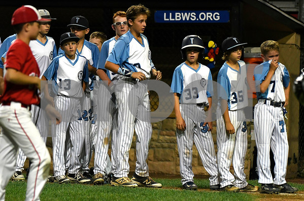 8/12/2017 Mike Orazzi | Staff Maryland after a loss in the Mid-Atlantic Regional Final at the Eastern Regional Little League Tournament at Breen Field in Bristol Saturday night.