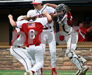 8/12/2017 Mike Orazzi | Staff Members of the Fairfield American Little League team after their win over Maine Saturday at Breen Field.