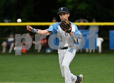 8/12/2017 Mike Orazzi | Staff Maryland's Josh Skowronski (3) during the Mid-Atlantic Regional Final during the Eastern Regional Little League Tournament at Breen Field in Bristol Saturday night.