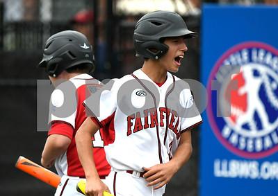 8/12/2017 Mike Orazzi | Staff Connecticut's Matthew Vivona (2) scores Saturday at Breen Field.
