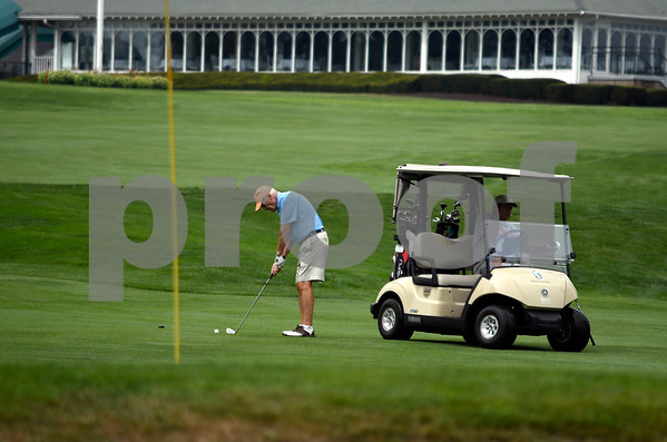 8/15/2017 Mike Orazzi | Staff Former Plymouth Mayor Dave Mischke while golfing with Howie Friday at Chippanee Golf Club in Bristol Tuesday morning.