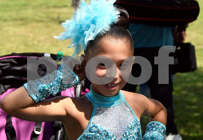8/19/2017 Mike Orazzi | Staff Kayleen Torres of the X-Dance group waits to perform during the city's second annual Latin Festival in New Britain Saturday.