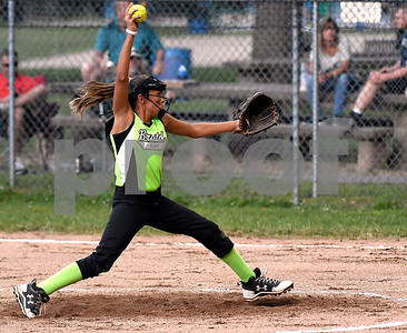 8/23/2017 Mike Orazzi | Staff Bristol Blast's Alex Sciarretto (2) during the city softball series in Rockwell Park Wednesday evening.