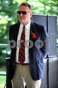 8/26/2017 Mike Orazzi | Staff Dozynki Chairman Richard Pokorski during the Annual Dozynki Festival at Falcon Field in New Britain on Saturday.