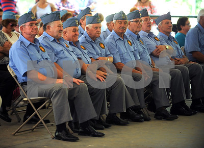 8/26/2017 Mike Orazzi | Staff Members of the Gen. J. Haller Post No. 111 during the New Britain's annual Dozynki Polish Festival at Falcon Field on Saturday.
