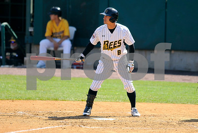 8/31/2017 Mike Orazzi | Staff New Britain Bees' Yusuke Kajimoto (8) Wednesday morning.