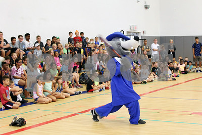 Bristol Blues mascot BB visits children at the Boys & Girls Club for a meet and greet. The event was organized by Briana Root and George Klimek.