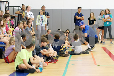 Photos of the day 842017 centralctcommunications bristol blues player mitch guilmette visits children at the boys girls club for a meet m4hsunfo