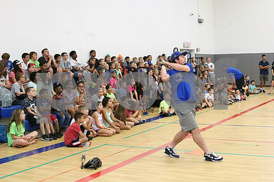 Bristol Blues player Chris Davis visits children at the Boys & Girls Club for a meet and greet. The event was organized by Briana Root and George Klimek.