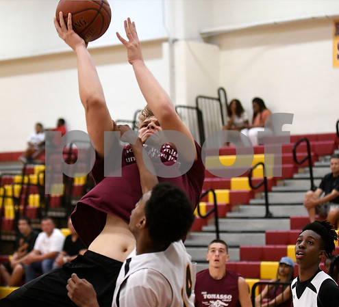 8/5/2017 Mike Orazzi | Staff New Britain's Dan Kownacki (13) during Nutmeg Games basketball at New Britain High School Saturday afternoon.