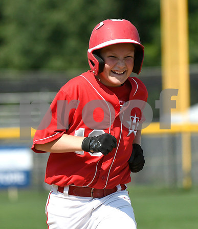 8/6/2017 Mike Orazzi | Staff New Jersey's Garrett Dew (10) during a win over the District of Columbia in the Eastern Regional Little League Tournament held at Breen Field in Bristol Sunday.