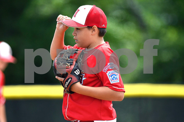 8/6/2017 Mike Orazzi | Staff New Jersey's Chris Andrews (1) during the Eastern Regional Little League Tournament held at Breen Field in Bristol Sunday.