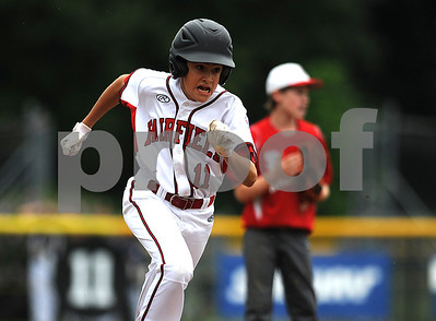 8/7/2017 Mike Orazzi | Staff Connecticut's Andrew Cutler (11) during the Eastern Regional Little League Tournament held at Breen Field in Bristol Monday.