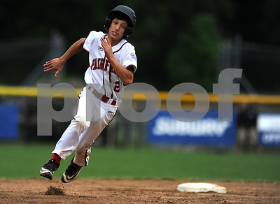 8/7/2017 Mike Orazzi | Staff Connecticut's Matthew Vivona (2) during the Eastern Regional Little League Tournament held at Breen Field in Bristol Monday.