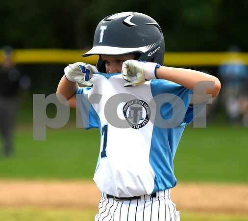 8/8/2017 Mike Orazzi | Staff Maryland's Peyton Castellow (77) during the Eastern Regional Little League Tournament in Bristol Tuesday morning.