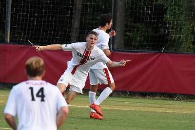 Freshman forward Lucas Hauth (30) from Fleming Island, Fla. scored the Wildcats first goal of the exhibition match against Belmont Abbey. The 'Cats went on to win the match 2-0.