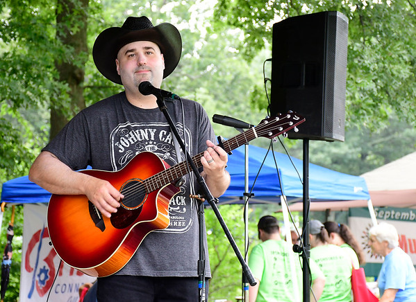 8/18/2018 Mike Orazzi | Staff Jason Gerrish performs during the Bristol West End Association's seventh annual summer festival at Rockwell Park Saturday.