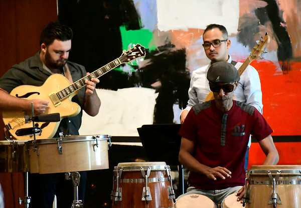 8/18/2018 Mike Orazzi | Staff Members of the Ed Fast & Conga Bop perform at the New Britain Museum of American Art Saturday in New Britain.