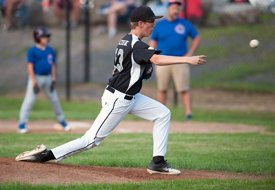 08/20/18  Wesley Bunnell | Staff  The Bristol Little League City Series on Monday night featuring the Cub defeating the White Sox at Frazier Field. White Sox Seth Bissonette (13).
