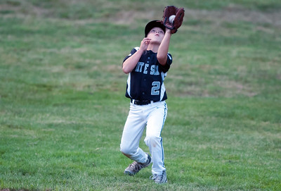 08/20/18  Wesley Bunnell | Staff  The Bristol Little League City Series on Monday night featuring the Cub defeating the White Sox at Frazier Field. Jake Deveau (2) catches a pop up to end the top of the sixth inning.